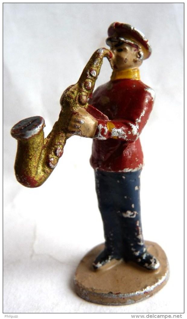 FIGURINE QUIRALU - CIRQUE - ALUMINIUM - ANNEE 50 RARE Musicien Saxophoniste - Quiralu