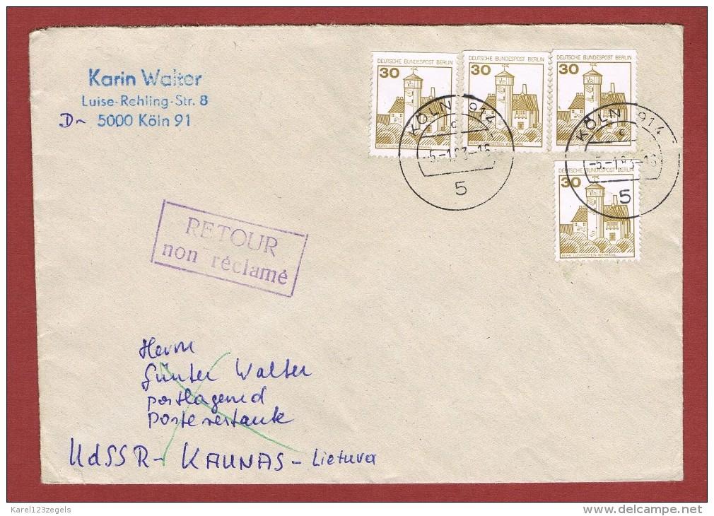 Brief Köln - Kaunas Poste Restante & Zurück 1983 - Lithuania