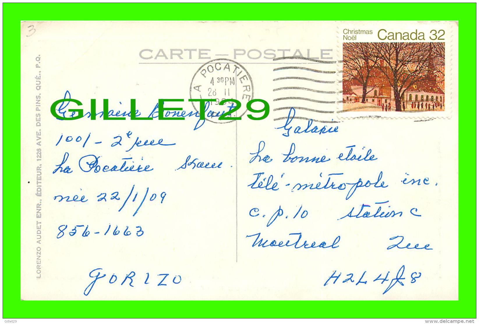 QUÉBEC LA CITÉ - VUE AÉRIENNE DU PORT DE QUÉBEC - CIRCULÉE EN 1984 - LORENZO AUDET ENR. - - Québec - La Cité