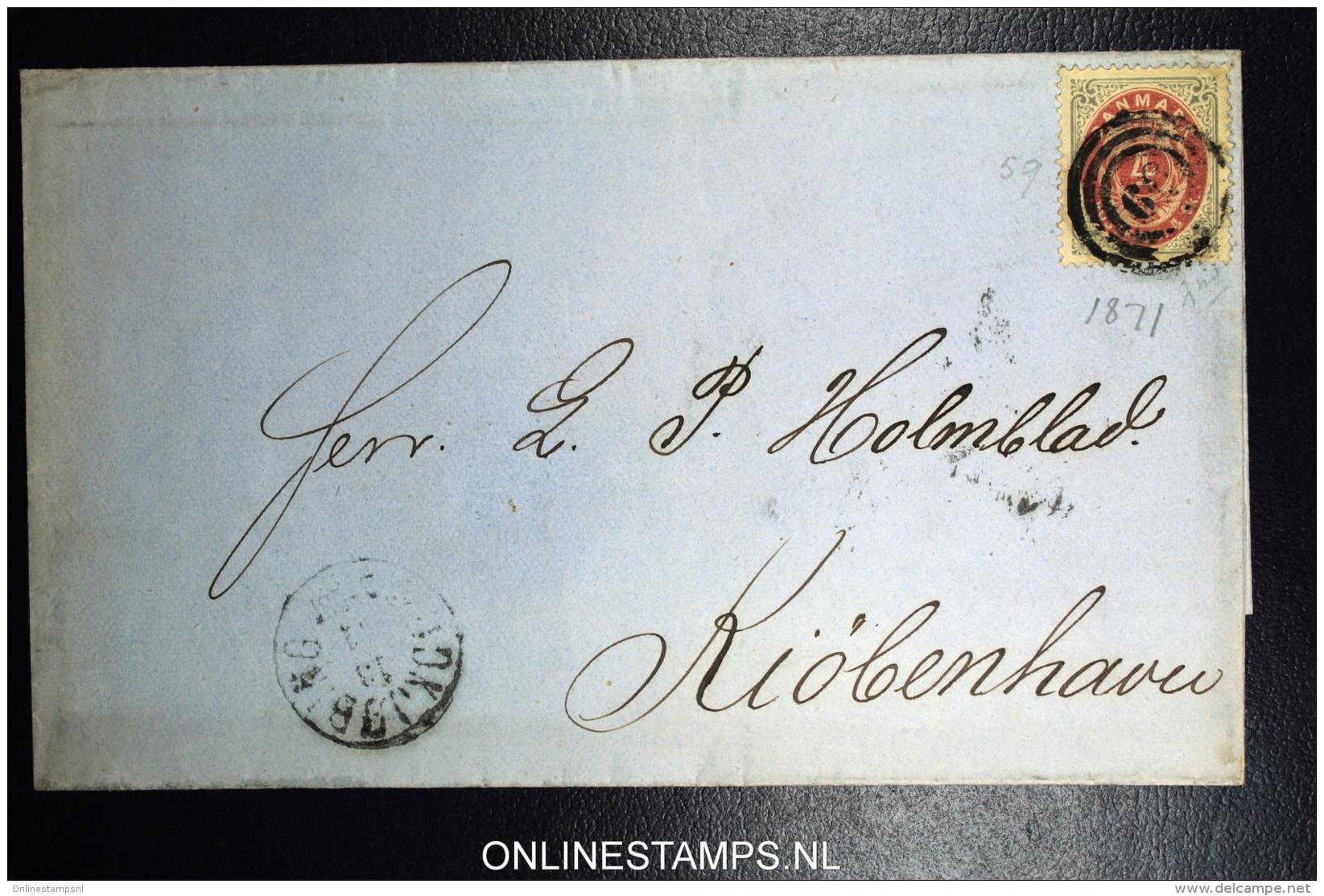 Denmark  Letter 1871 Nykjobing-Sjaelland (49) To Copenhagen  Fa Nr 22 - Briefe U. Dokumente