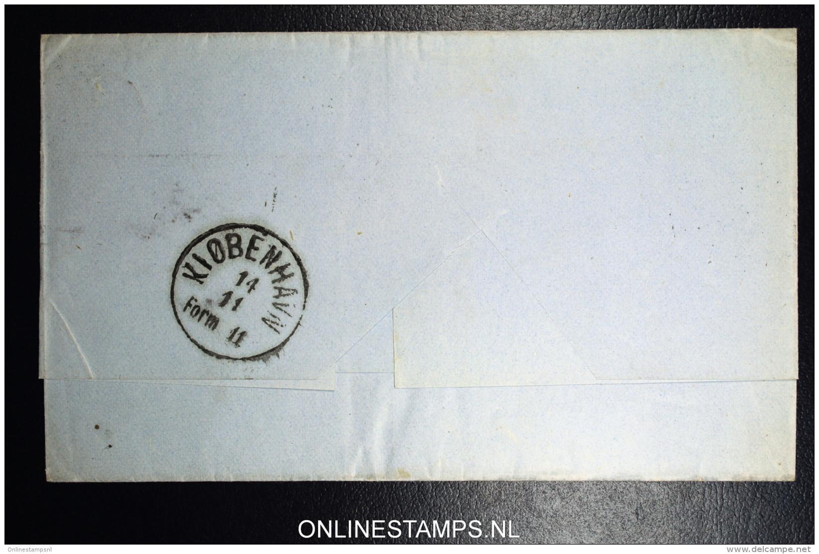 Denmark  Letter 1871 Nykjobing-Sjaelland (49) To Copenhagen  Fa Nr 22 - 1864-04 (Christian IX)
