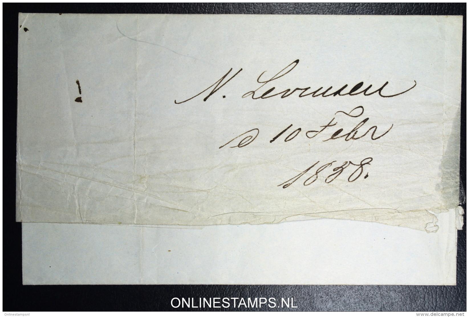 Denmark  Letter 1858 Copenhagen To Holbaeck Fa Nr 4 Nice Borders, CLOCK Letter - Briefe U. Dokumente
