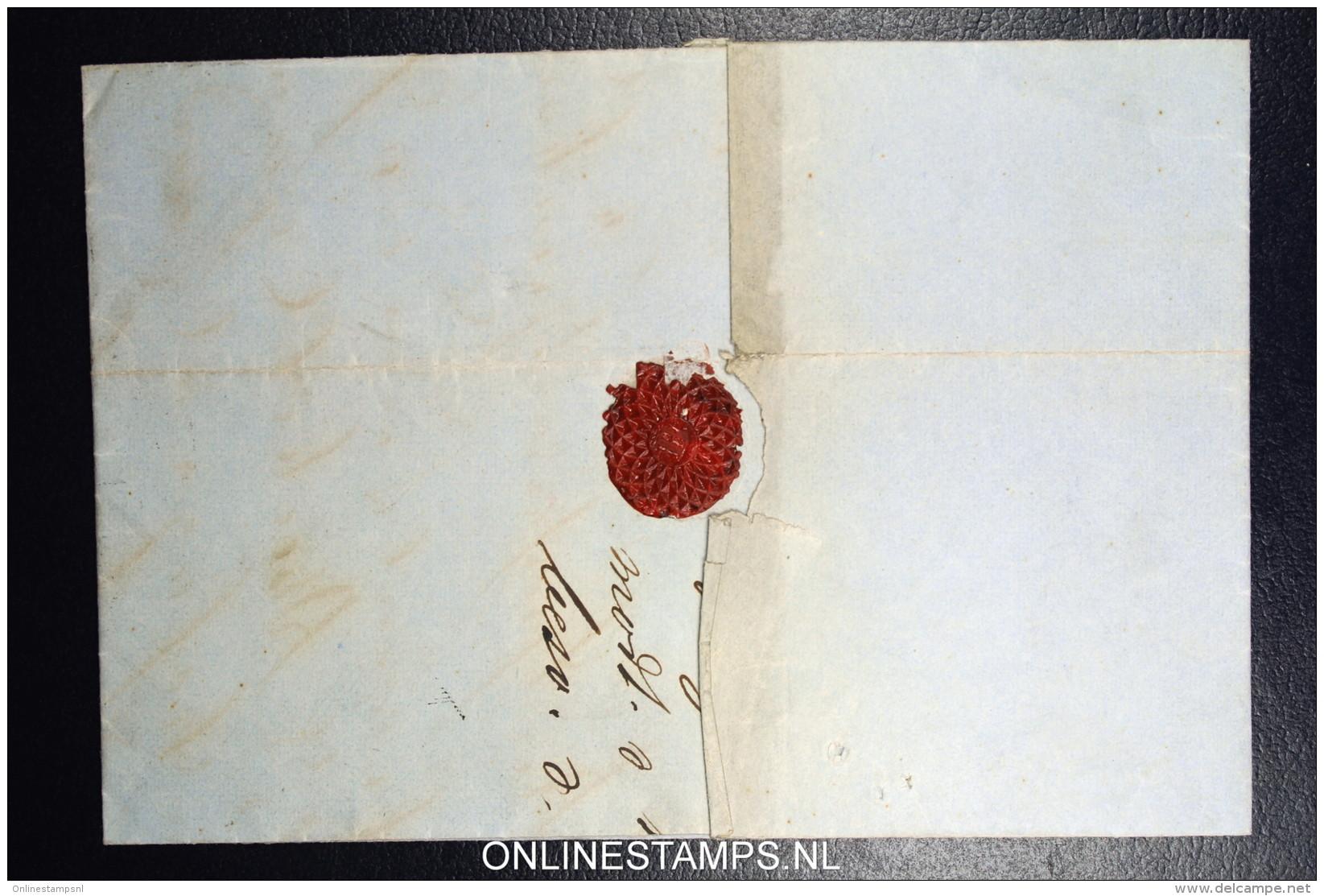Denmark  Part Letter 1858 Roeskilde (nr 58) To Copenhagen Fa Nr 4 - 1851-63 (Frederik VII)