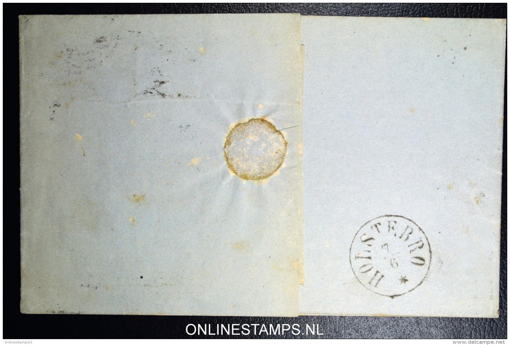 Denmark  Letter  Aalborg To Holstebro Fa Nr 22 - Briefe U. Dokumente