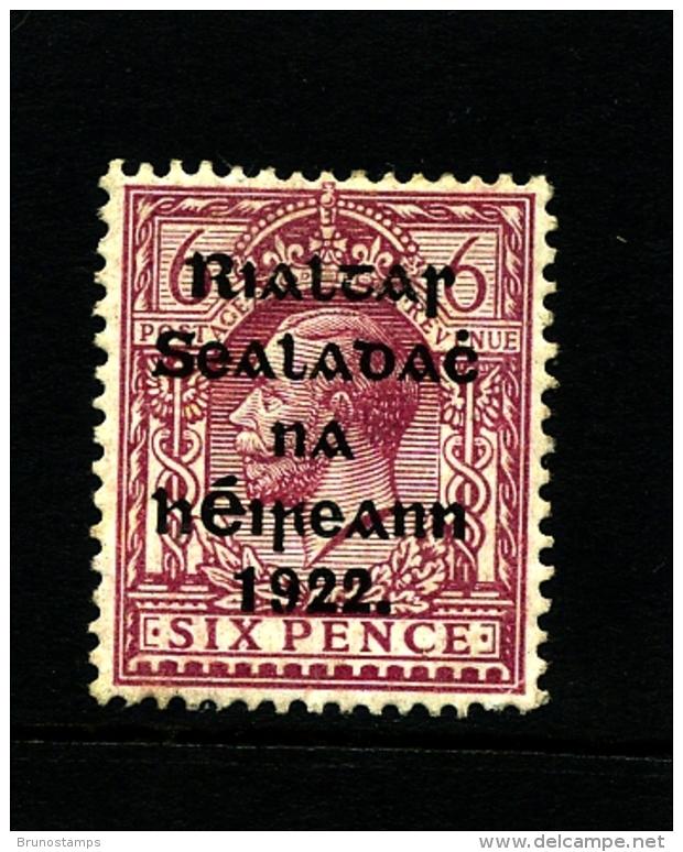 IRELAND/EIRE - 1922 6d. OVERPRINTED THOM  MINT SG 14 - Nuovi