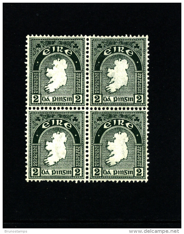IRELAND/EIRE - 1923  2d.  MAP  SE WMK  BLOCK OF FOUR MINT NH  SG 74 - 1922-37 Stato Libero D'Irlanda