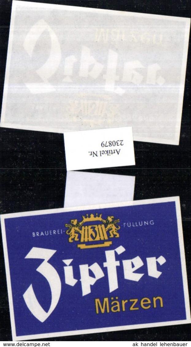 230879,Reklame Werbung Bier Zipfer Märzen - Publicité