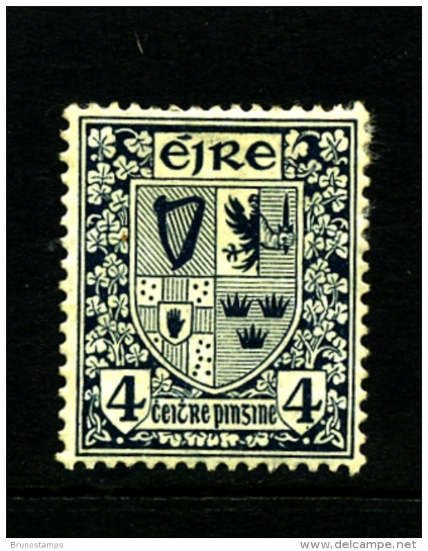 IRELAND/EIRE - 1923  4d.  ARMS  SE WMK  MINT SG 77 - 1922-37 Stato Libero D'Irlanda