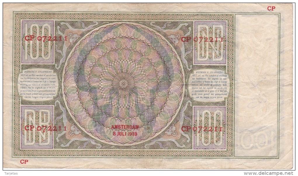 BILLETE DE HOLANDA DE 100 GULDEN DEL AÑO 1939  (BANKNOTE) - [2] 1815-… : Koninkrijk Der Verenigde Nederlanden