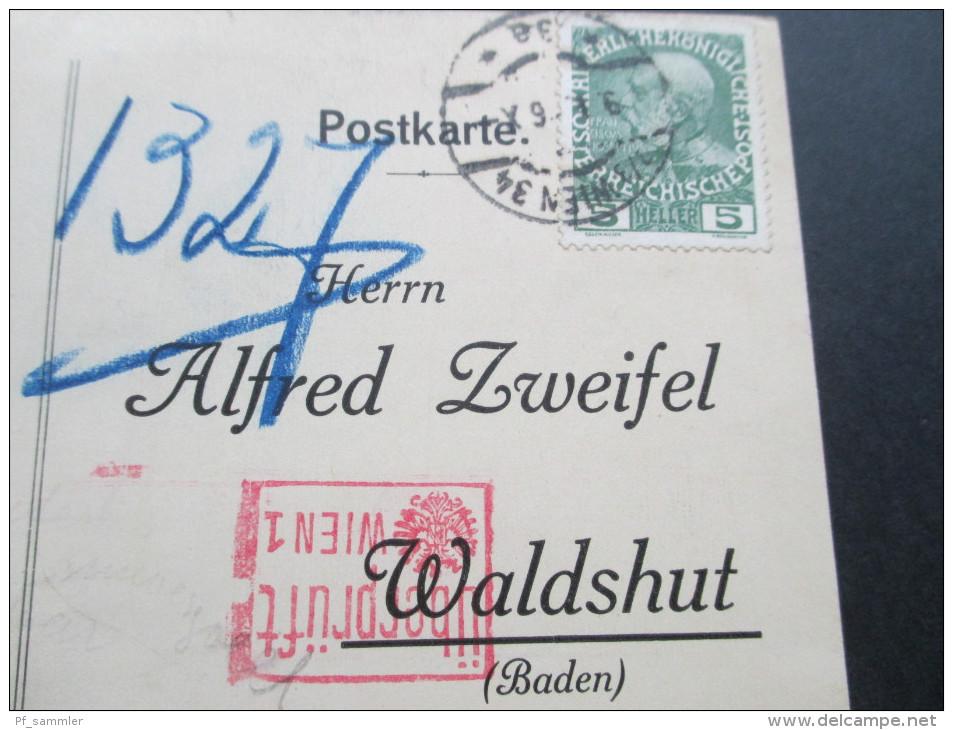 AK Lenzburg, Alfred Zweifel, Malagakellereien, Spezialhaus Für Südweine U. Cognac.Alkohol.1916 Überprüft Wien. - Händler