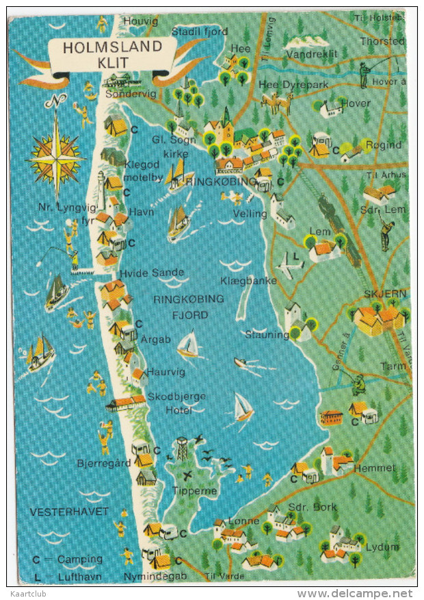 Holmsland Klit - Dänemark (Nymindegrab, Hemmet, Skjern,Ringkobing, Sondervig, Hover, Houvig Etc.) - Danmark - Landkaarten