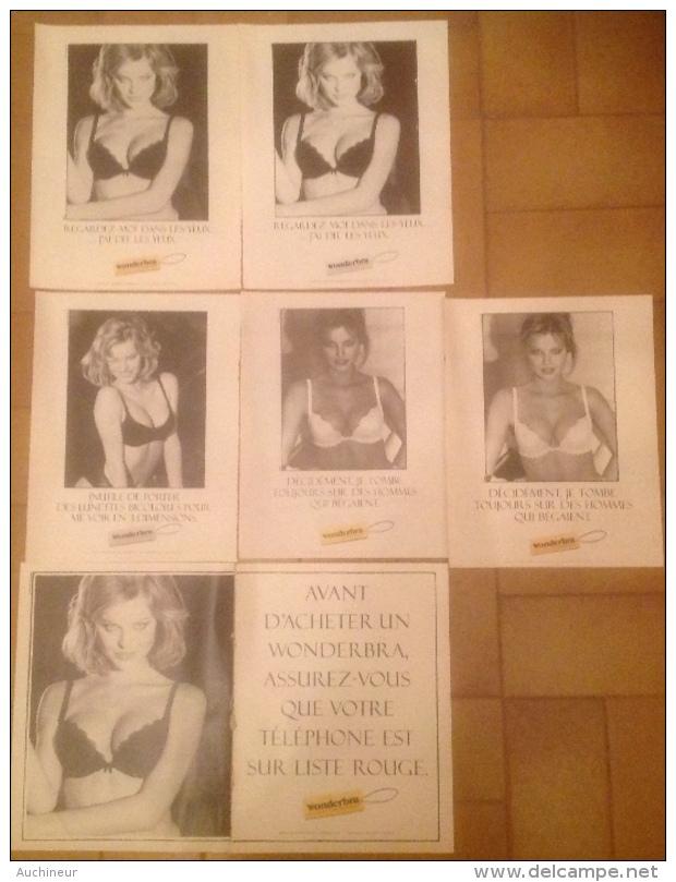 Publicité Lingerie Soutien-gorge Femme Wonderbra X 6 - Pubblicitari