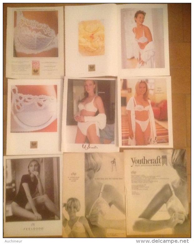 Publicité Lingerie Soutien-gorge Femme Divers W Et Y X 8 - Pubblicitari