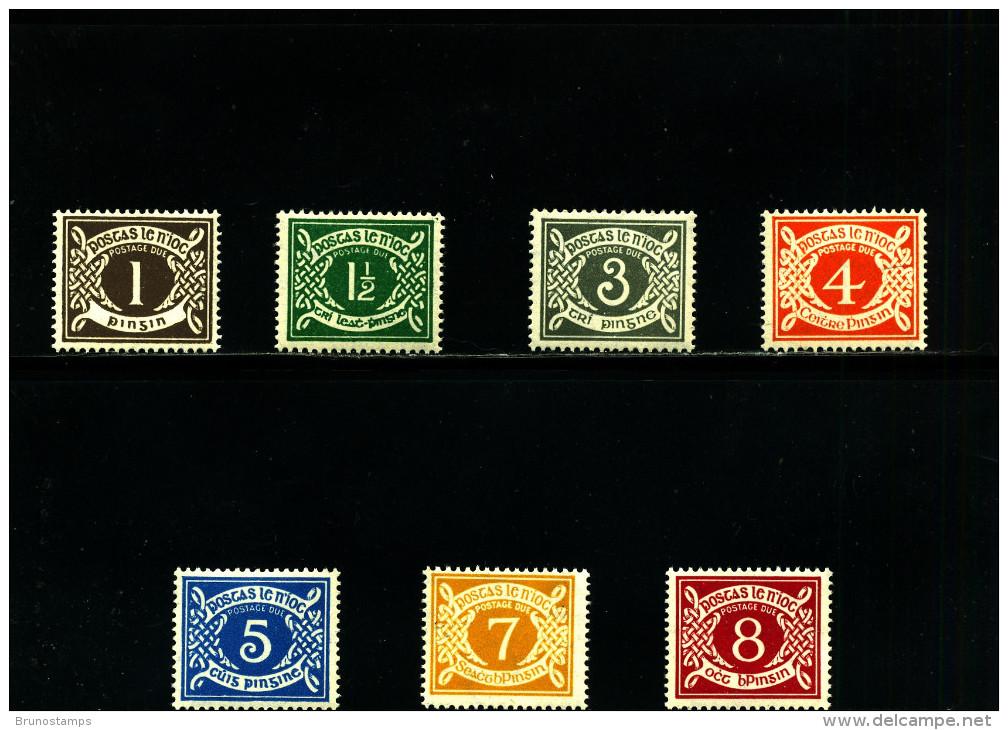 IRELAND/EIRE - 1971  POSTAGE DUE  E WMK  SET  MINT NH SG D15/21 - Segnatasse