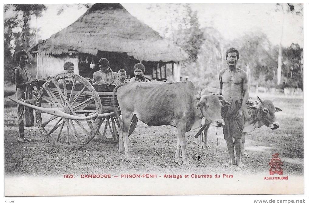 CAMBODGE - Phnom Penh - Attelage Et Charrette Du Pays - Cambodia