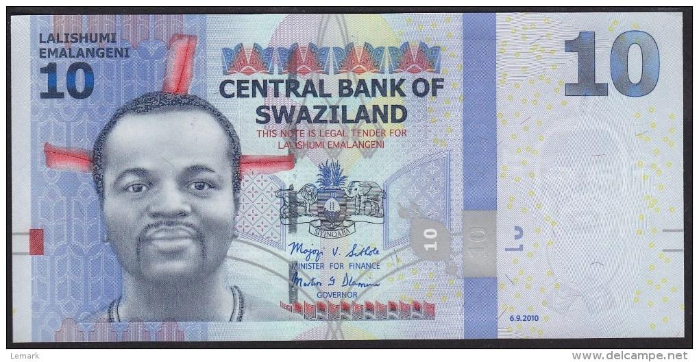 Swaziland 10 Emalangeni 2010 P36 UNC - Swaziland