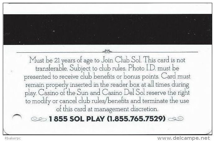 Casino Of The Sun & Casino Del Sol - Tucson, AZ - Slot Card - Casino Cards