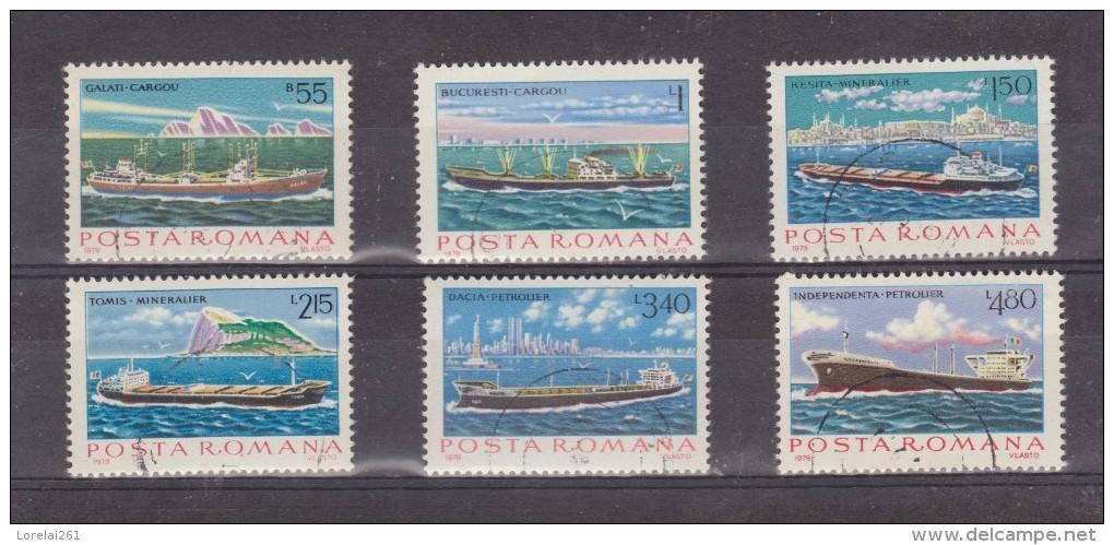 1979 - Batiments De La Marine Marchande Michel No 3613/3618 Et Yv No 3191/3196 - 1948-.... Repúblicas