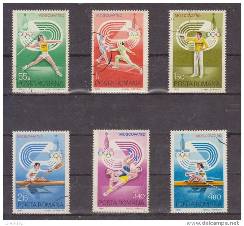 1980 JEUX OLYMPIQUES DE MOSCOVA  MI No 3733/3738 Et Yv 3289/3294 - 1948-.... Republiken