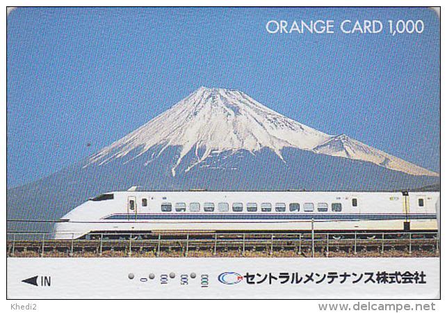 Carte Orange Japon - VOLCAN MONT FUJI & TRAIN - VULCAN Japan Prepaid JR Card - VULKAN Berg & ZUG Karte - 279 - Volcans