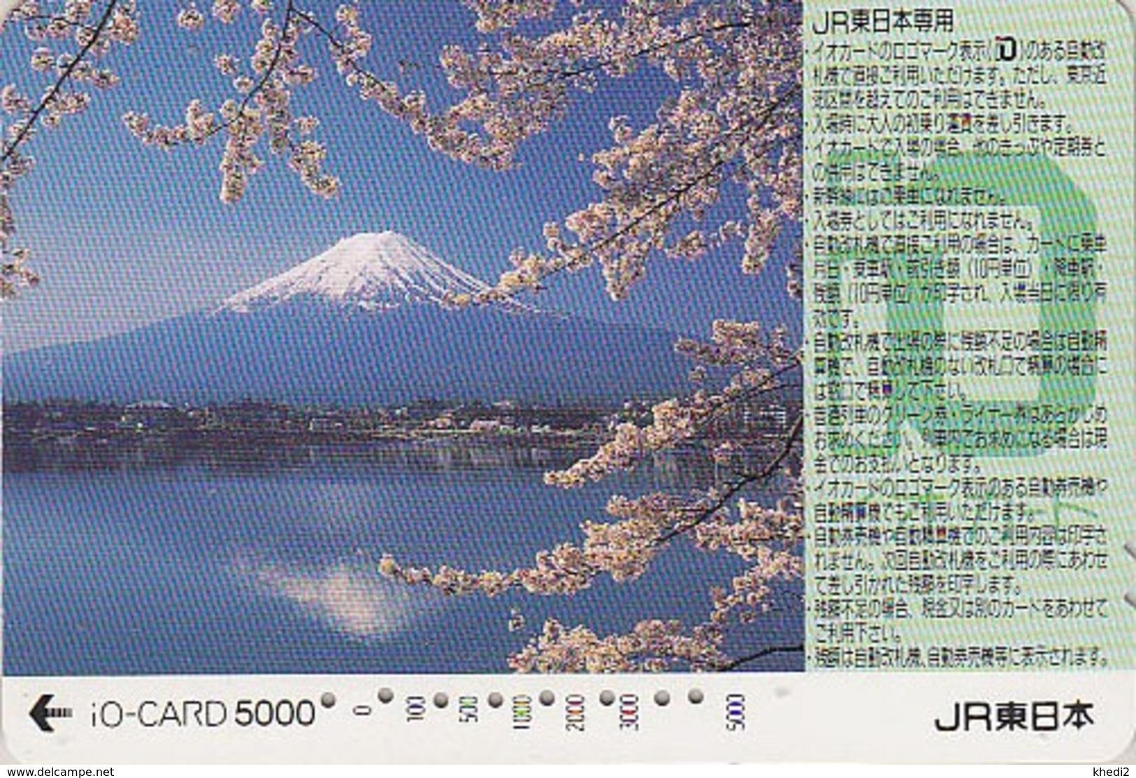 Carte Prépayée Japon - VOLCAN MONT FUJI - VULCAN Mountain Japan Prepaid IO Card - VULKAN Berg  Karte - 282 - Volcans