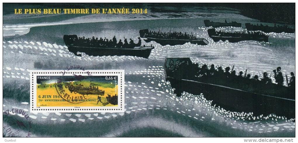 France Oblitération Cachet à Date BF N° F 4863 - 6 Juin 1944 70ème Anniversaire Du Débarquement - Used