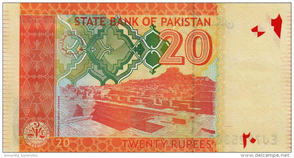 PAKISTAN 20 RUPEES 2013 P-55f UNC  [ PK233i ] - Pakistan