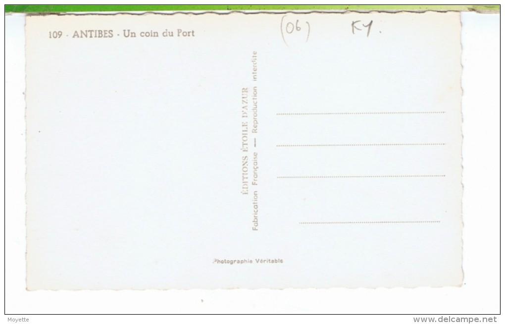 CPSM-06-ANTIBES-UN COIN DU PORT- - Autres