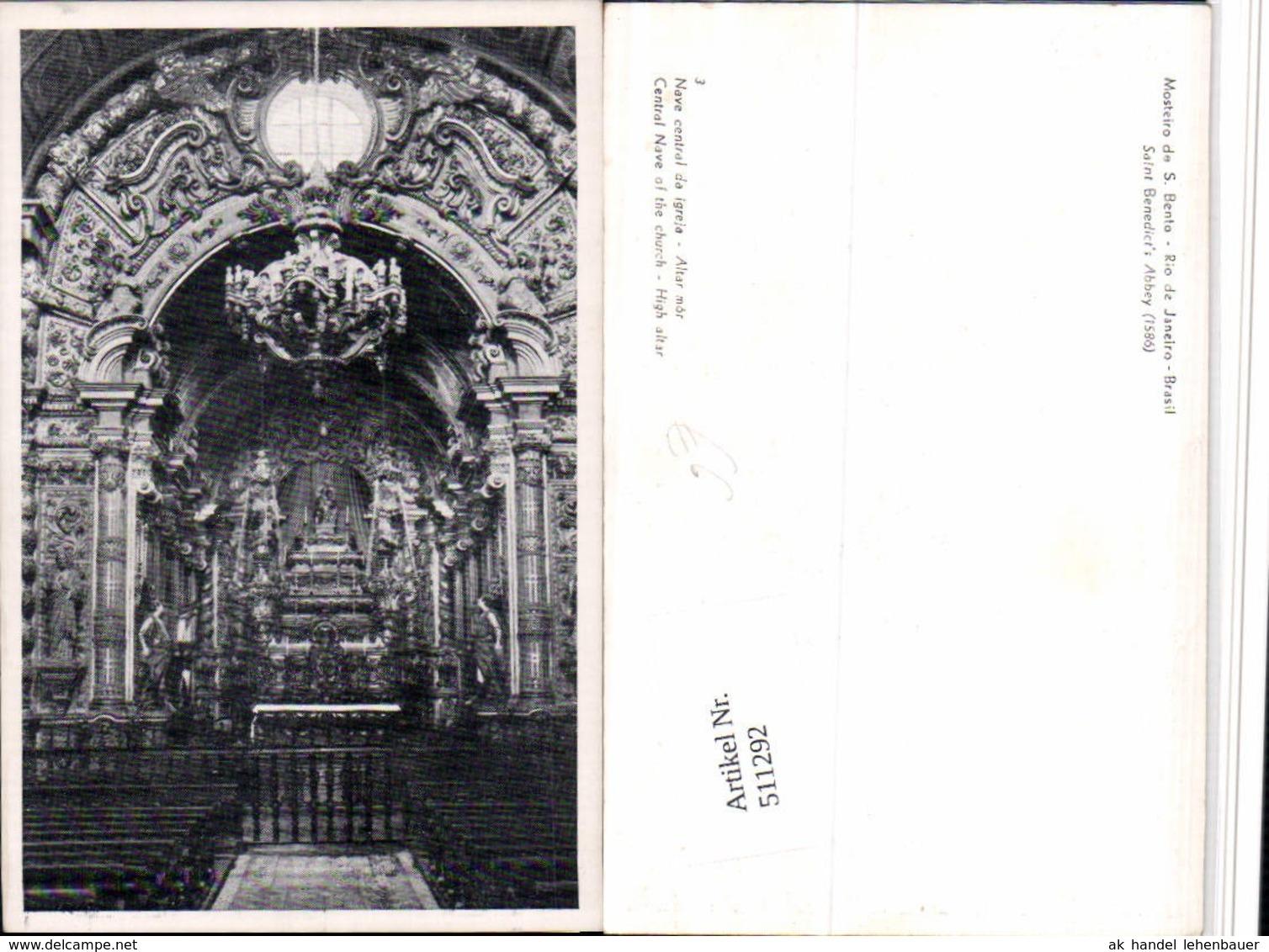 511292,Brazil Rio De Janeiro Mosteiro De S. Bento Kirche Innenansicht - Brasilien