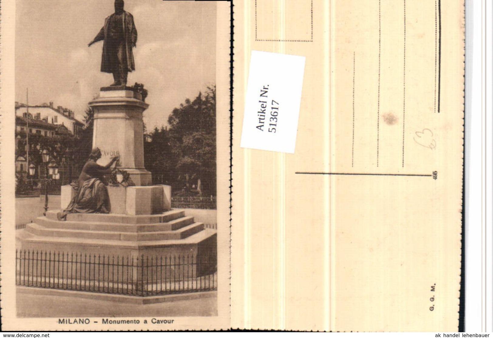 513617,Milano Mailand Monumento A Cavour Statue - Monuments