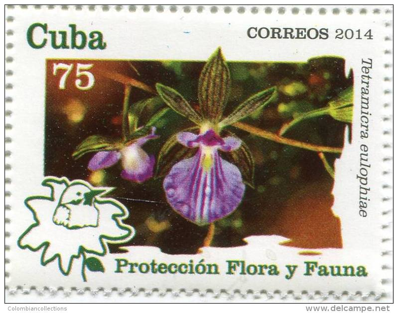 Lote CU2014-13, Cuba, 2014, Sello, Stamp, 6 V , Fauna, Flora, Bird, Orchid, Turtle, Ave, Tortuga, Orquidea - FDC