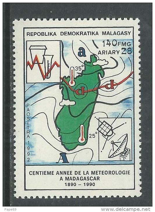 Madagascar N° 1081  XX Centenaire De La Météorologie à Madagascar, Sans Charnière, TB - Madagascar (1960-...)