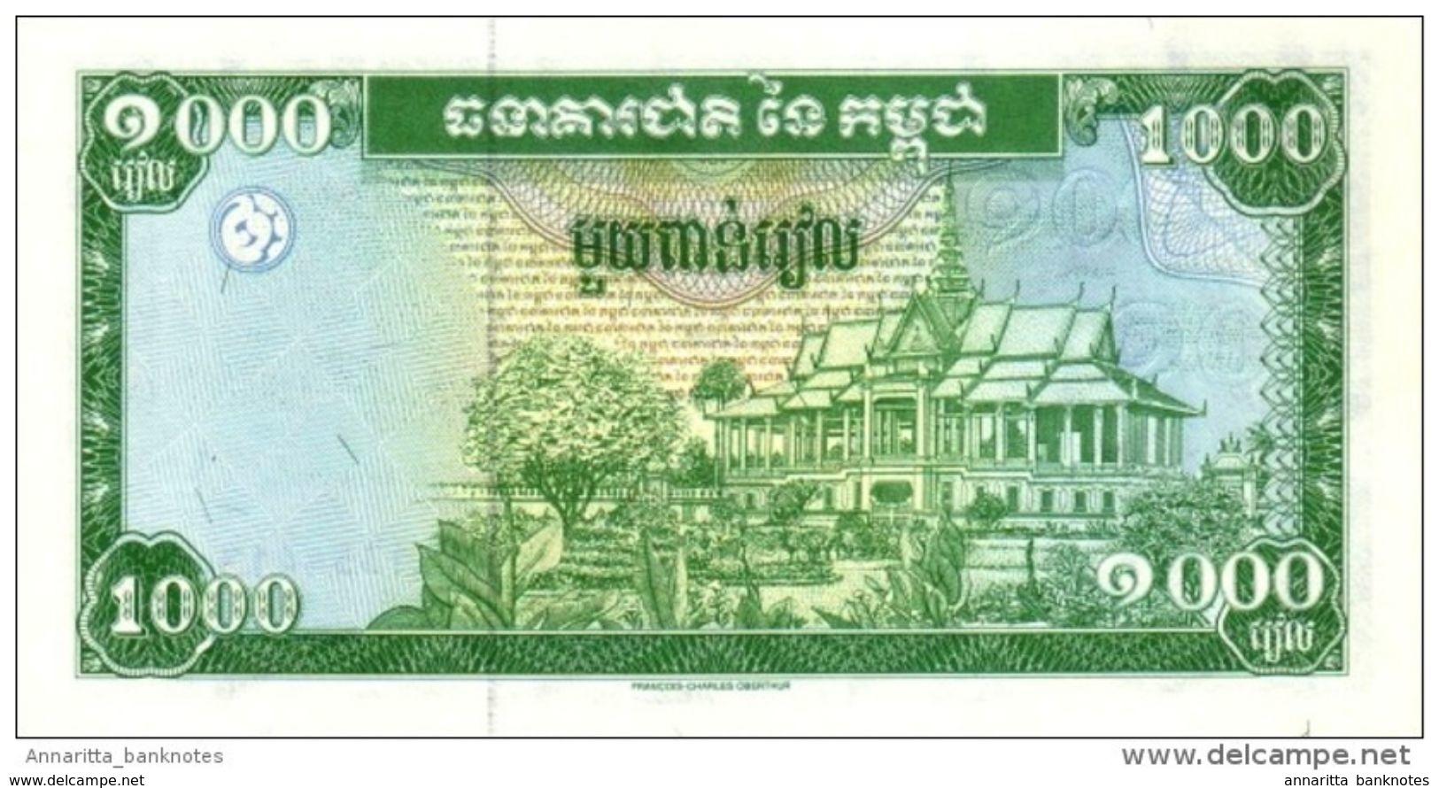 CAMBODIA 1000 RIELS ND (1995) P-44a UNC  [KH407a] - Cambodia
