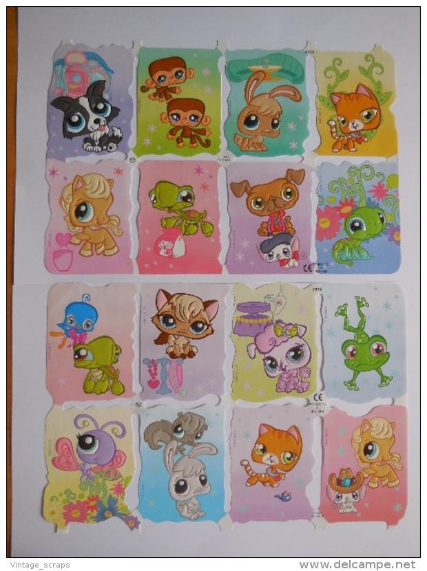 SCRAPS MLP 2119/20 Pet Shop 2 Sheets Glanzbilder Oblaten Mamelok Cardmaking Decoupage Die-Cuts Children's Projects - Scrapbooking