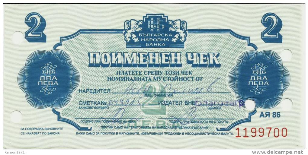 Bulgaria - 2 Lev 1986 UNC (Currency Check) - Bulgaria