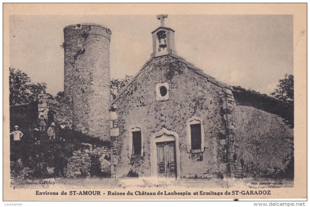 16 / 7 / 293  - ENV.  DE   ST. AMOUR  (39 )  - RUINES  DU CHATEAU  DE  LAUBESPIN  ET  ERMITAGE DE ST. GARADOZ - Sin Clasificación