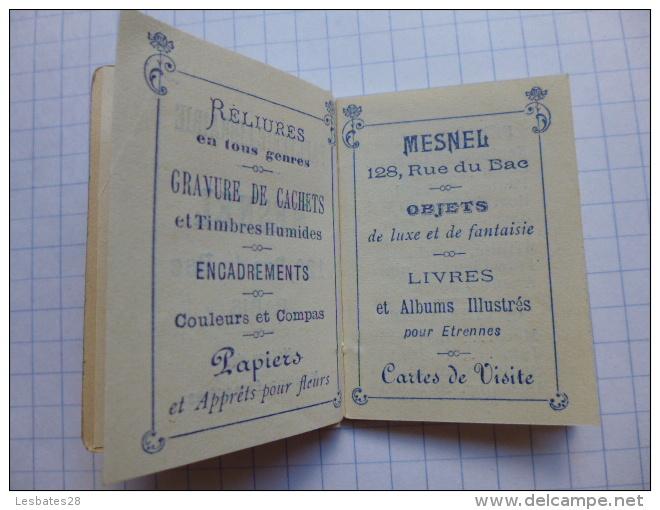 CALENDRIERS AGENDA PETIT CALENDRIER   BIJOU  1905  MAROQUNERIE  PAPETERIE LIBRAIRE MESNEL  PARIS - Petit Format : 1901-20