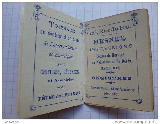 CALENDRIERS AGENDA PETIT CALENDRIER   BIJOU  1905  MAROQUNERIE  PAPETERIE LIBRAIRE MESNEL  PARIS - Calendriers