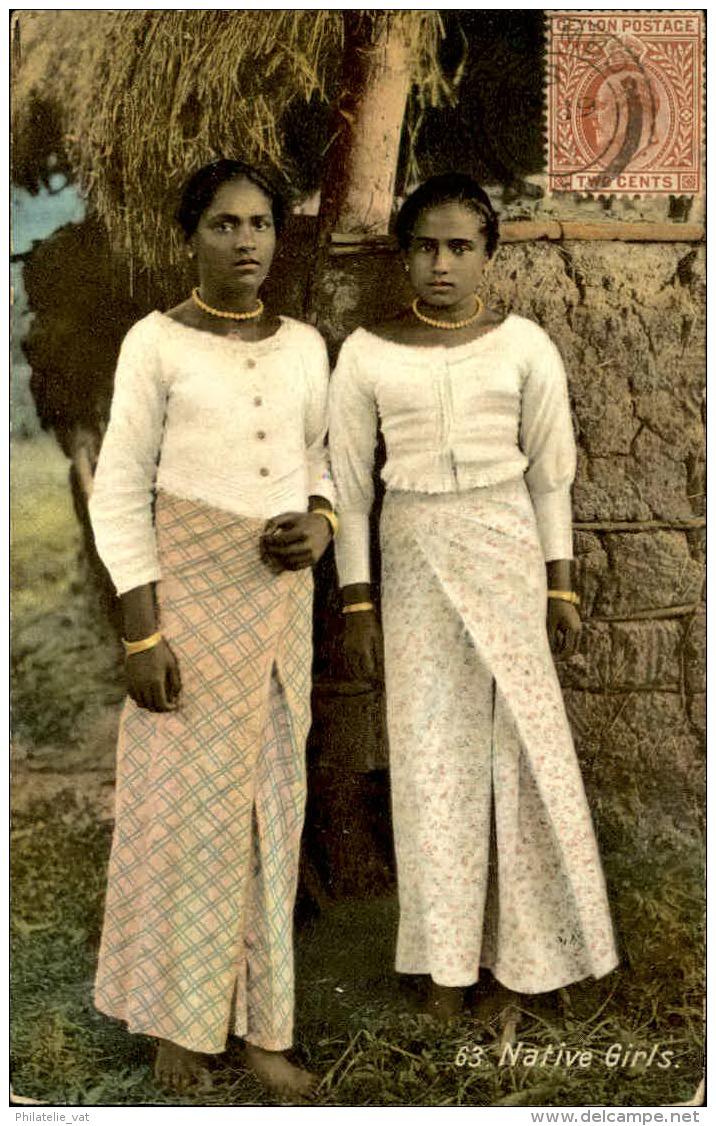 CEYLAN - Jeunes Filles – A Voir – Lot N° 18136 - Sri Lanka (Ceylon)