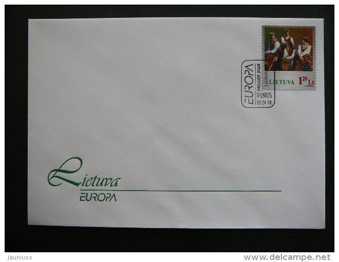 Lietuva Litauen Lituanie Litouwen Lithuania 1998 FDC - Europa.National Festivals. - Lithuania