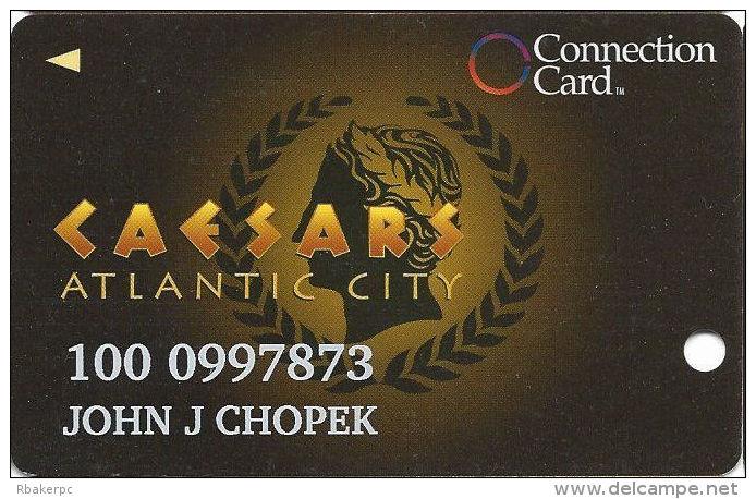 Caesars Casino Atlantic City, NJ Slot Card - Innovative Over Mag Stripe - 2 Phone#s - Casino Cards