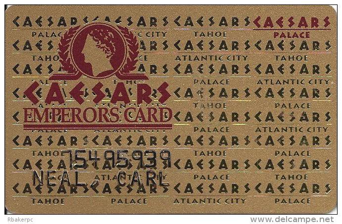 Caesars Palace Casino Las Vegas, NV Slot Card - DLR CP Over Mag Stripe - Casino Cards