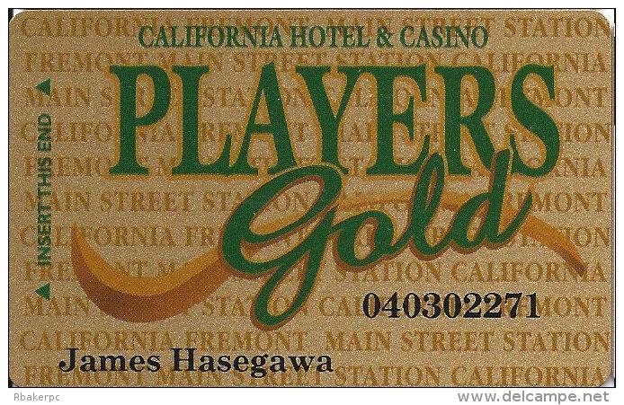 California Casino Las Vegas, NV - Slot Card - Mag Stripe Only - Casino Cards