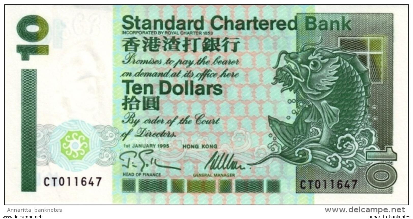 Hong Kong (SCB) 10 Dollars 1995 UNC Cat No. P-284a / HK407c - Hong Kong