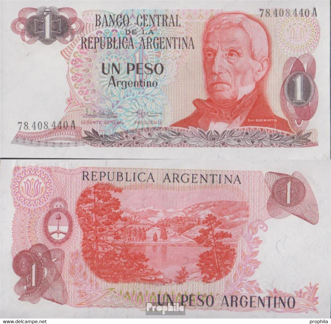 Argentinien Pick-Nr: 311a Bankfrisch 1983 1 Peso - Argentine