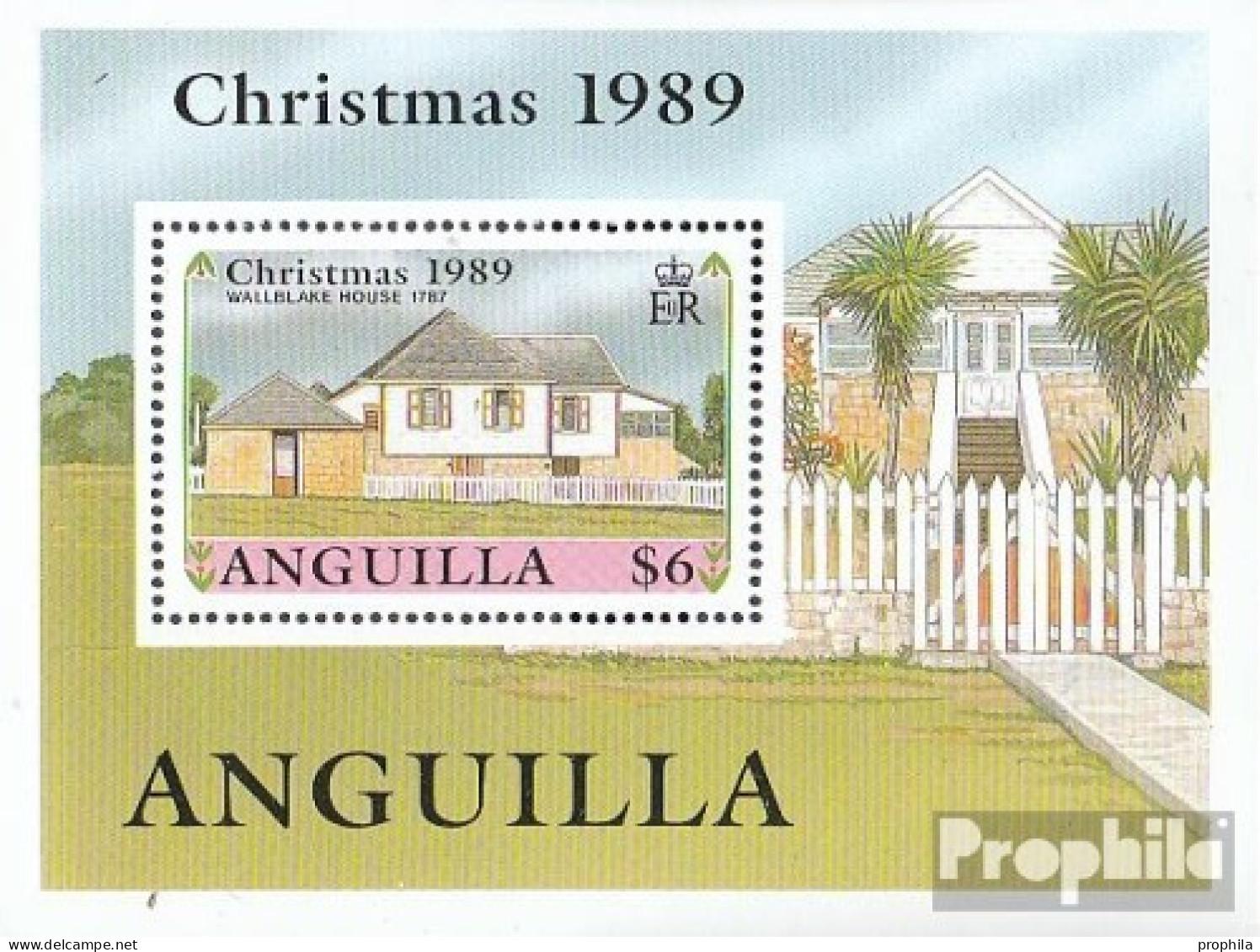 Anguilla Mi.-Nr.: Block84 (kompl.Ausg.) Postfrisch 1989 Historische Gebäude - Anguilla (1968-...)
