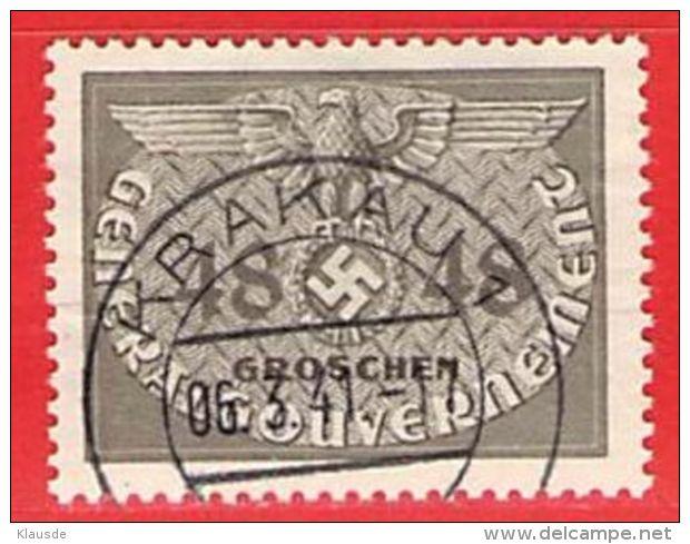MiNr.9 O Deutschland Besetzungsausgaben II. Weltkrieg Generalgouvernement ,Dienstmarken - Besetzungen 1938-45