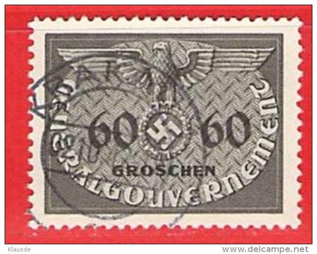 MiNr.11 O Deutschland Besetzungsausgaben II. Weltkrieg Generalgouvernement ,Dienstmarken - Besetzungen 1938-45