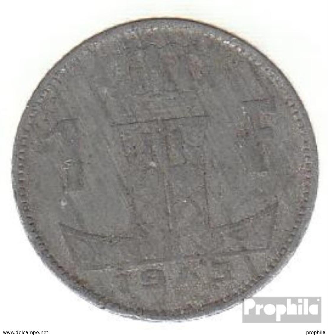 Belgien KM-Nr. : 127 1941 Sehr Schön Zink Sehr Schön 1941 1 Franc Löwe Auf Schild - 1934-1945: Leopold III