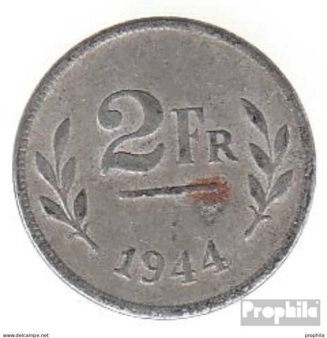 Belgien KM-Nr. : 133 1944 Vorzüglich Eisen Verzinkt Vorzüglich 1944 2 Francs Alliierte Besetzungsausgab - 1934-1945: Leopold III.